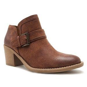 "Cognac Tobin Low Ankle Boot 2.75"""